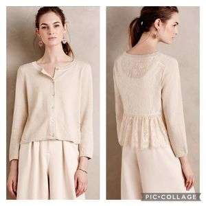 EUC Knitted & Knotted Afterword Lace Knit Cardigan